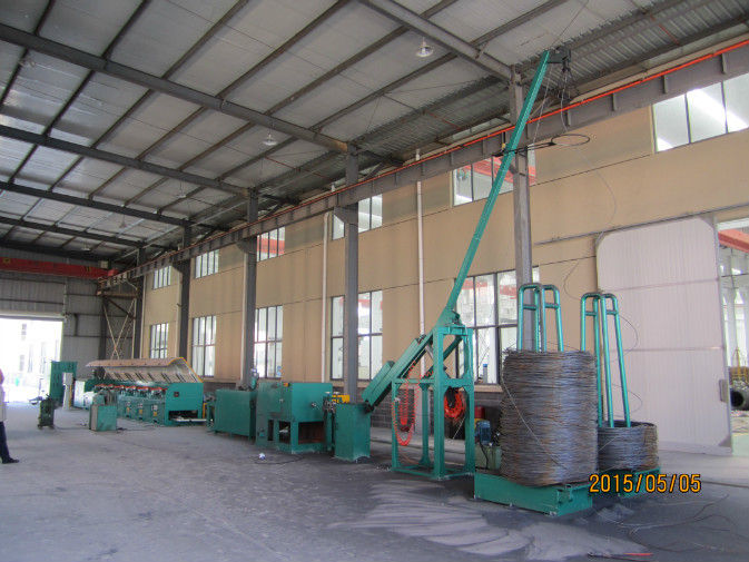 2.2kw Mechanical Wire Descaling Machine With Row Brushes For Steel Wire Surface Cleaning