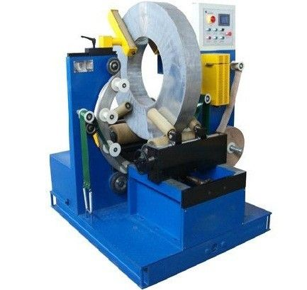 Electric Wire Baler Cable Wrapping Machine With Two Driving Rollers 220V / 380V Voltage